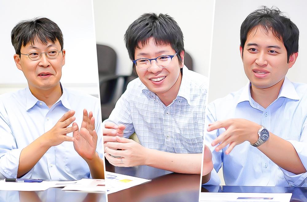 From left to right: Hiromasa Shin, Masaaki Takada, and Yoshiaki Shiga from Toshiba Corporate R&D Center