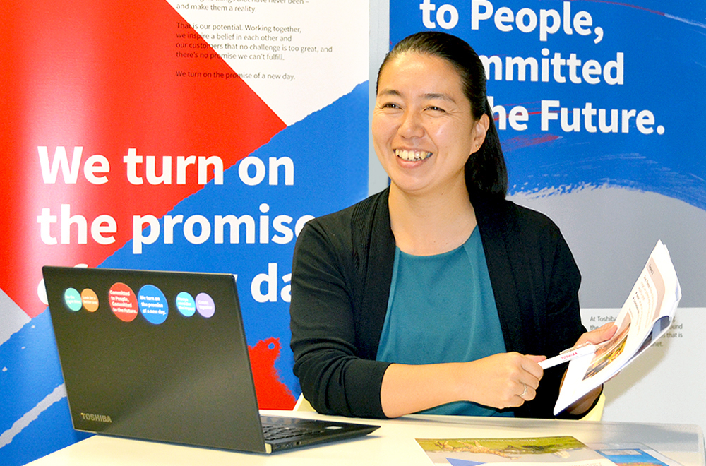 Chika Yamada explains how Toshiba is contributing to stable energy supply in Africa
