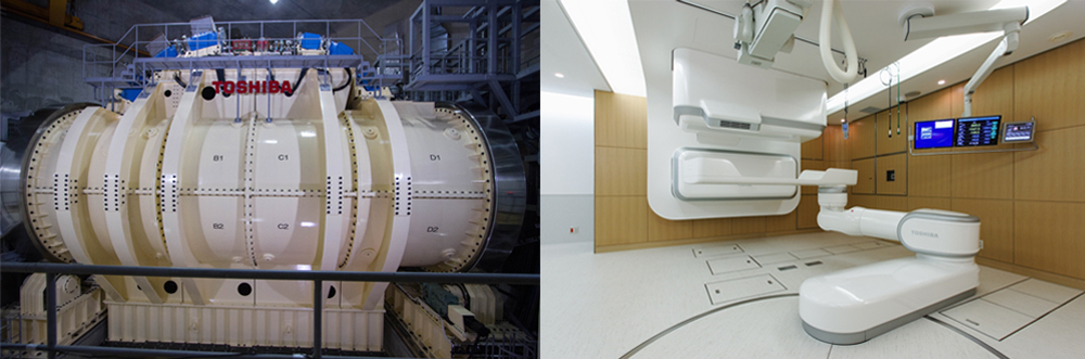 Rotary gantry and treatment room (Courtesy of QST/NIRS)