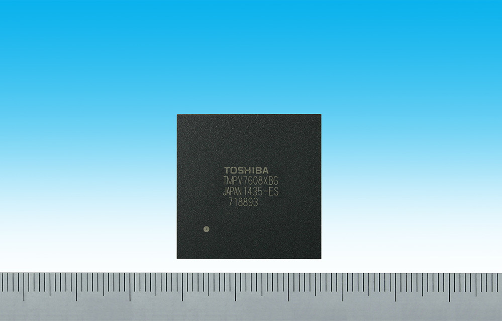 Toshiba's Image Recognition LSI (TMPV76) (package size: 27 mm x 27 mm)