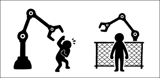 Human and robots