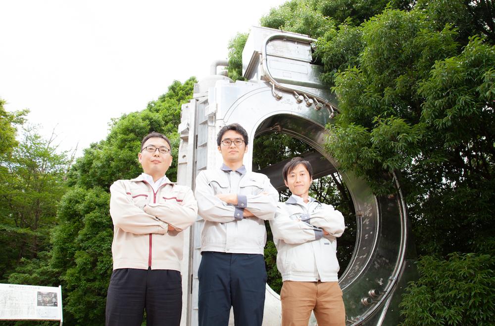 Takuma Wakatsuki, Hideki Kajitani and Yusuke Ishii.