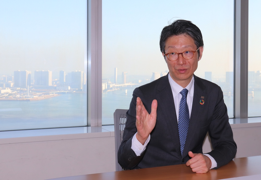 Taro Shimada, CEO & Representative Director of Toshiba Data Corporation,Executive Officer & Corporate Vice President of Toshiba Corporation