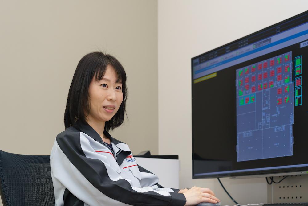 Satoko Sugisaki at her desk