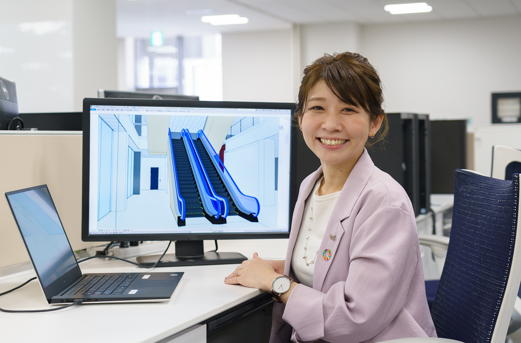 Toshiba's young engineers: Buildings constructed in the digital world are changing construction sites in the physical world