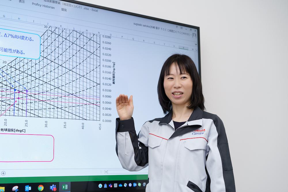 データをもとに、快適性について解説する杉崎氏