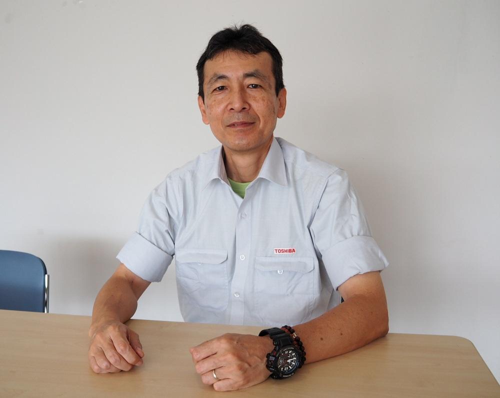 東芝ジェイエスダブリュー・パワーシステム社(TJPS)工場責任者 坂本太郎氏
