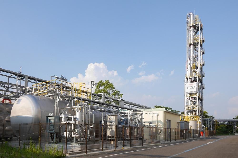 二酸化炭素分離回収プラントの外観