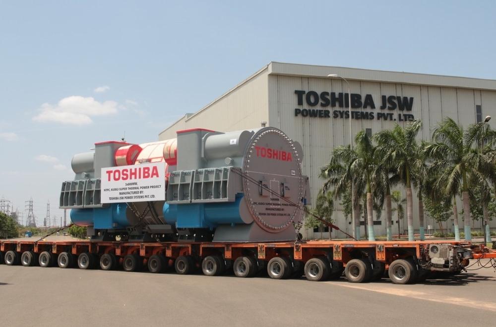 素材調達から加工までインドで一貫製造されたタービン発電機が出荷を迎えた
