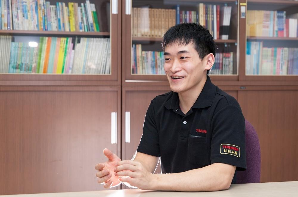 技能五輪全国大会に出場した江頭雄大選手