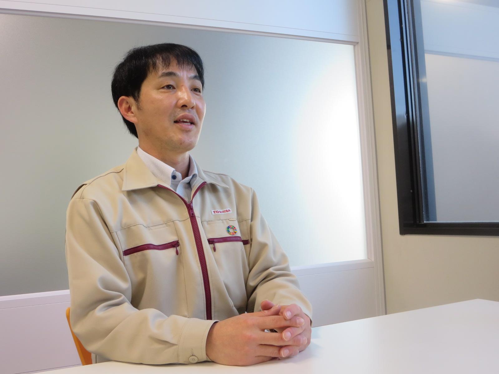 豊前東芝エレクトロニクス株式会社 管理部 総務安全保健環境担当 大江和男氏