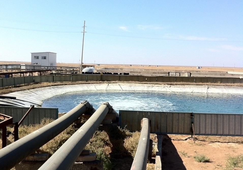 水口氏が関わったカザフスタンでのプロジェクト現場